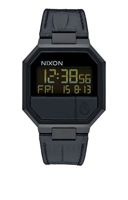 Picture of Re-Run Leather Watch - Black Croc