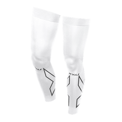 Picture of Compression Flex Leg Sleeves - White/Grey - XL