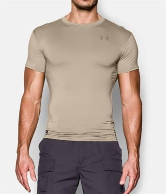Picture of Men's Tactical HeatGear Compression T-Shirt - Federal Tan - M