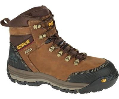 "Picture of Men's Munising 6"" Waterproof Composite Toe Work Boots - Brown - 7 - Medium"