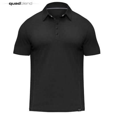 Picture of Icon II Quad-Blend Polo - Black - M