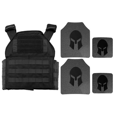 Picture of AR500 Body Armor & Spartan Shooters Cut PC Package - Black