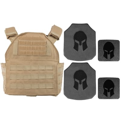 Picture of AR550 Body Armor & Spartan Shooters Cut PC Package - Tan