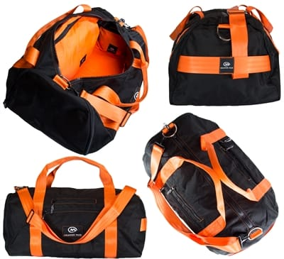 Picture of Modular Gym Bag, Black w/orange web