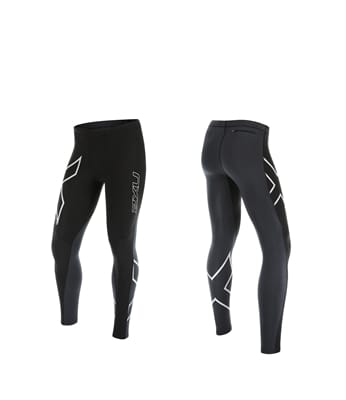 Picture of Men's Wind Defence Compression Tights - Black/Steel - L
