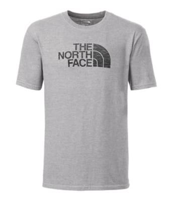 Picture of Men's Short Sleeve Half Dome Logo Fill T-Shirt - TNF Light Grey Heather/Asphalt Grey Pine Needle Print - XL