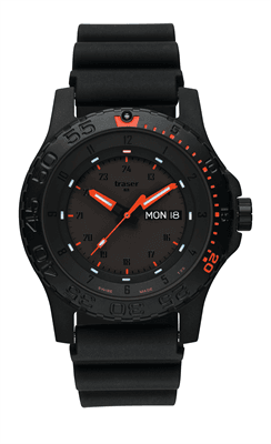 Picture of Men's P66 Tactical Mission Red Combat Watch - Black/Rubber