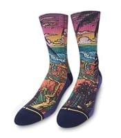 Picture of Men's Slogan Jungle Paradise Classic Crew Socks - L