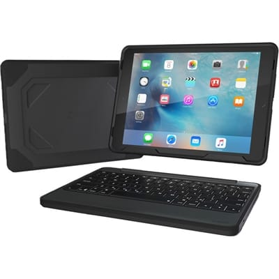 Picture of Rugged Book Bluetooth Keyboard With Detachable Case - Black
