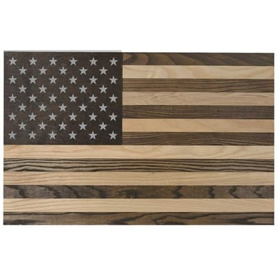 Picture of Wooden Wall Flag - 2 Tone Wood
