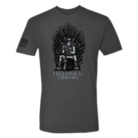 Picture of Men's Freedom Is Coming T-Shirt - Asphalt Grey - XL