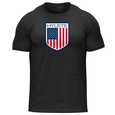 Picture of America Tri-Blend Crew T-Shirt - Vintage Black/USA - S