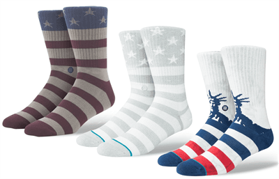 Picture of Men's Medium Patriotic Sock Bundle - 3 Pairs - Variety - M