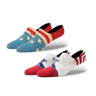 Picture of Men's Patriotic Low Sock Bundle - 2 Pairs - Variety - M