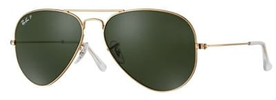 Picture of Original Aviator Polarized Sunglasses - Gold/Crystal Green - RB3025 001/5858