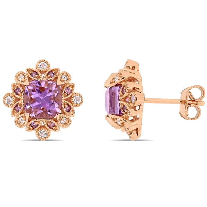 Gemstone Jewelry 2 Ct Tgw African Amethyst And White Topaz