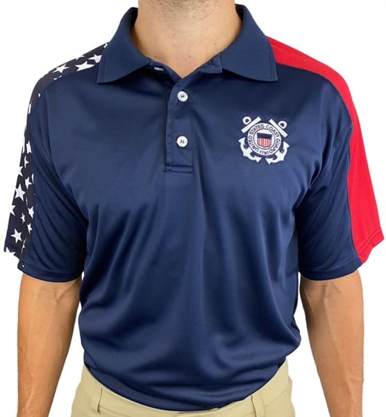 US COAST GUARD Embroidered Polo Shirt